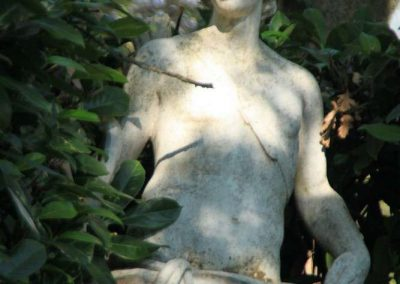 Apollo statue in garden