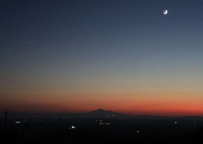 moon above the Val di Chiana